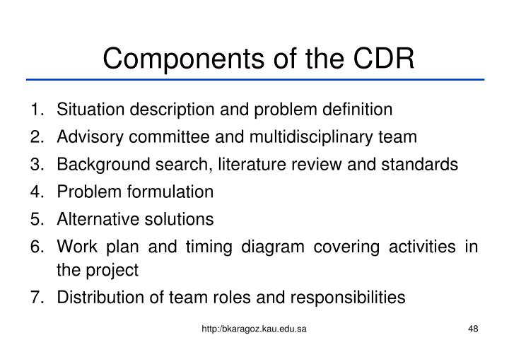 Components of the CDR