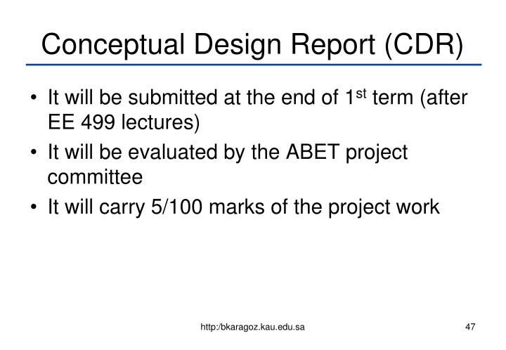 Conceptual Design Report (CDR)