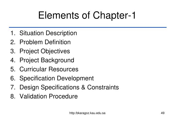 Elements of Chapter-1