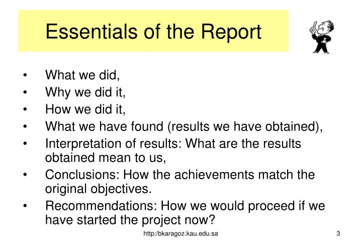 Essentials of the report