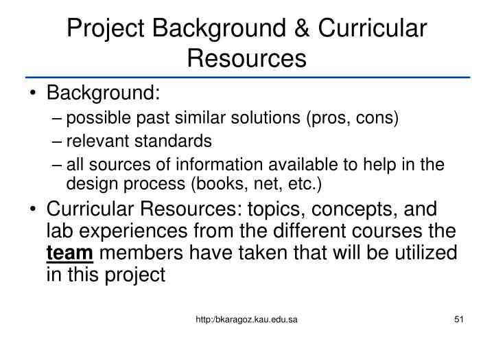 Project Background & Curricular Resources