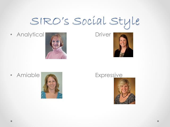 SIRO's Social Style