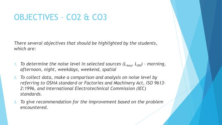 OBJECTIVES – CO2 & CO3