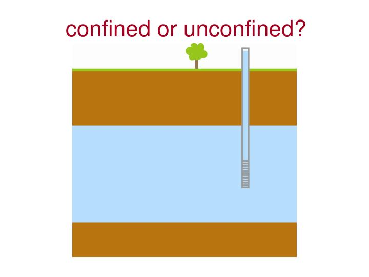 confined or unconfined?