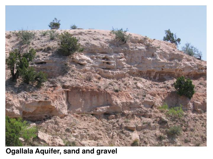 Ogallala Aquifer, sand and gravel