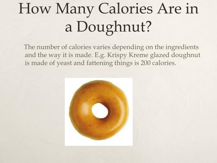 How Many Calories Are in a Doughnut?