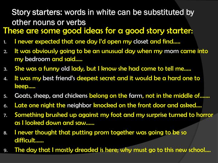 Story starters: