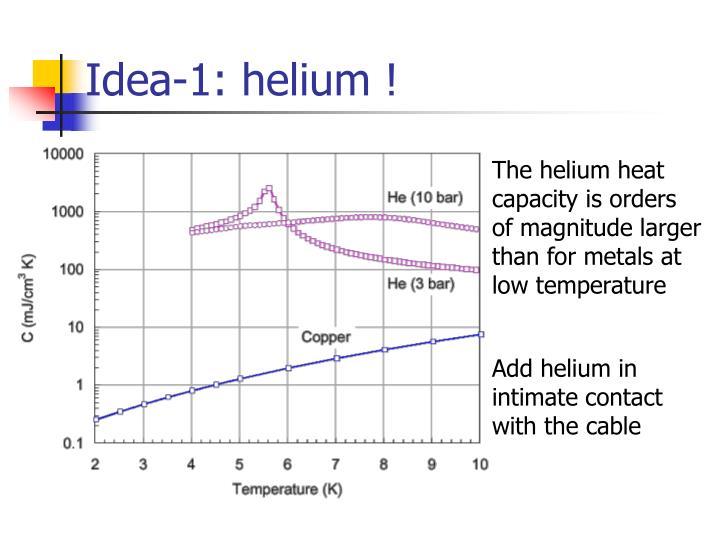 Idea-1: helium !