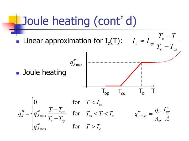 Joule heating (