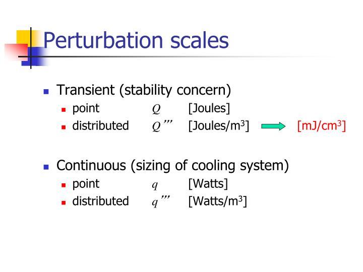 Perturbation scales