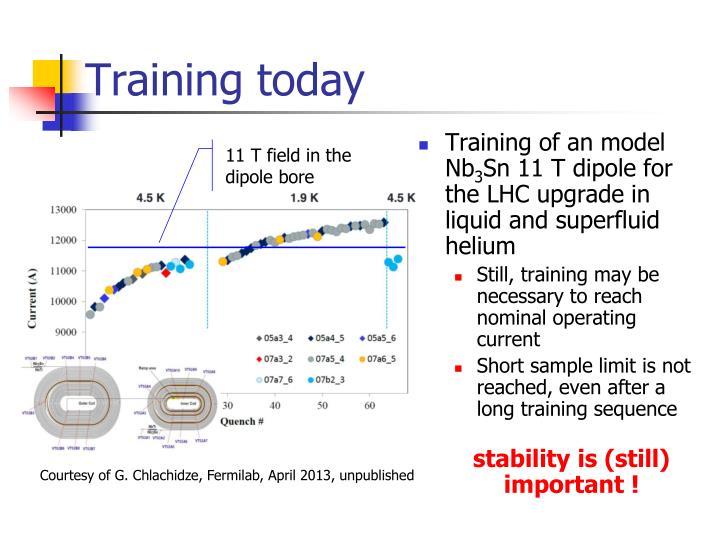 Training today