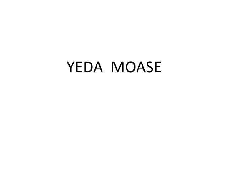 YEDA  MOASE