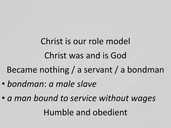 Christ is our role model