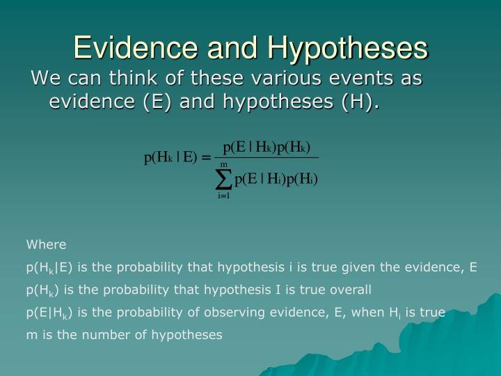 Evidence and Hypotheses