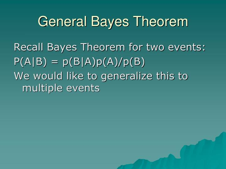 General Bayes Theorem