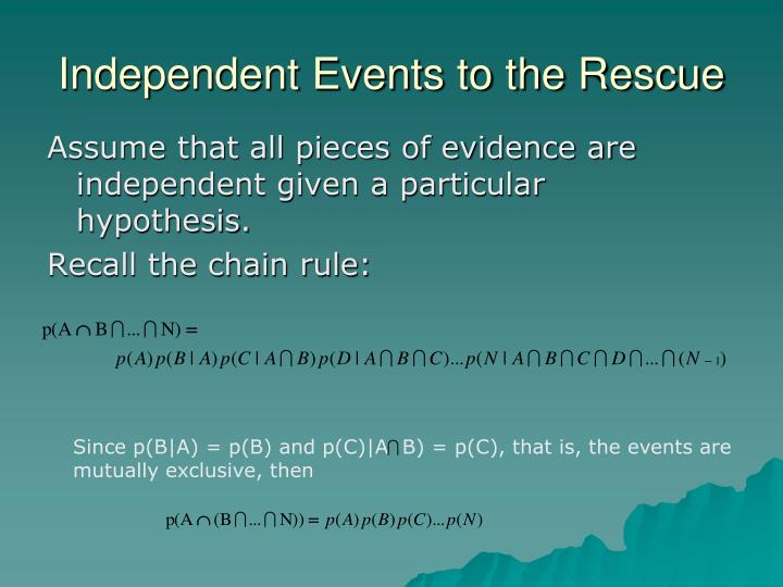 Independent Events to the Rescue