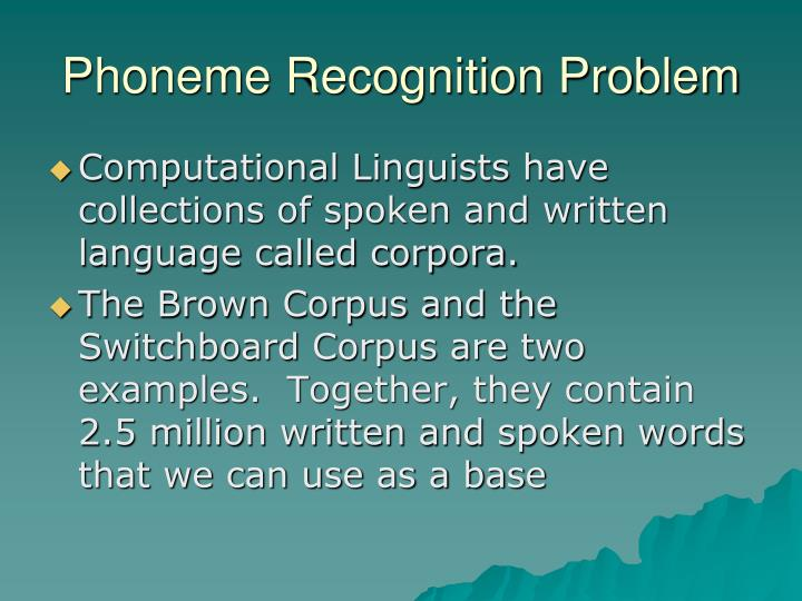 Phoneme Recognition Problem