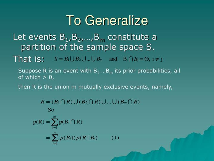 To Generalize