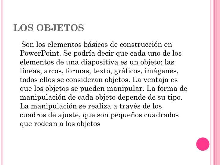 Los objetos