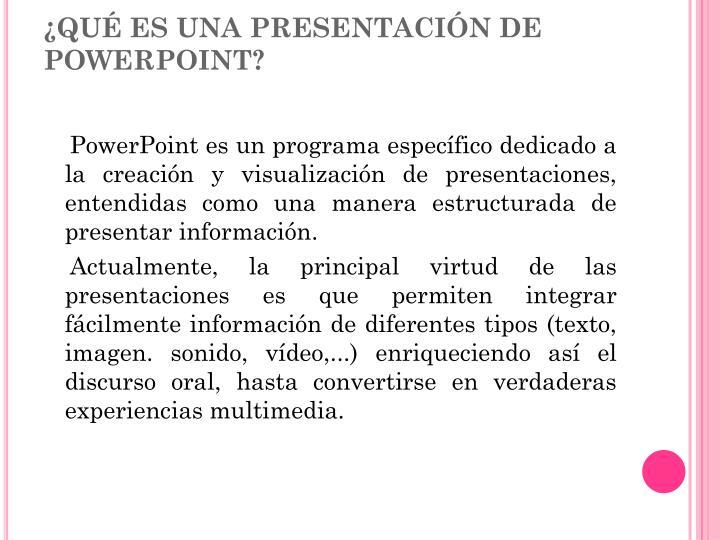 ¿Qué es una presentación de PowerPoint?