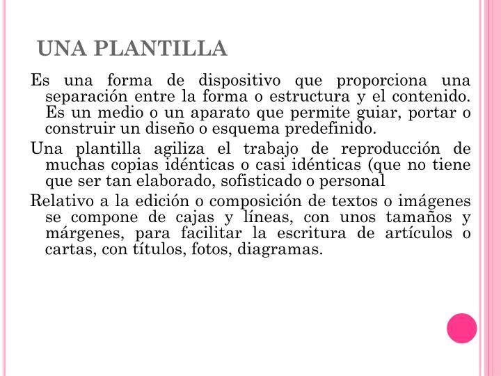 Una Plantilla