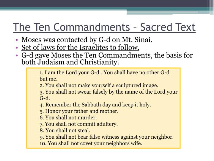 The Ten Commandments – Sacred Text