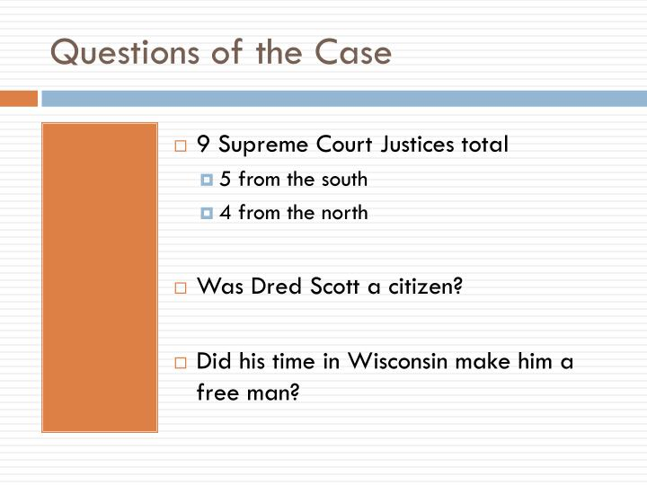 Questions of the Case