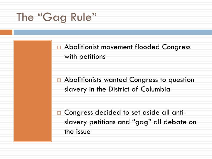 "The ""Gag Rule"""