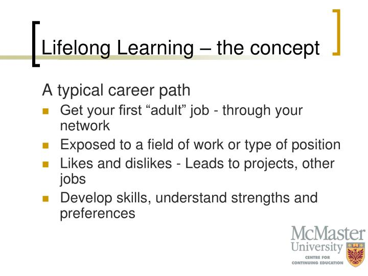 Lifelong Learning – the concept