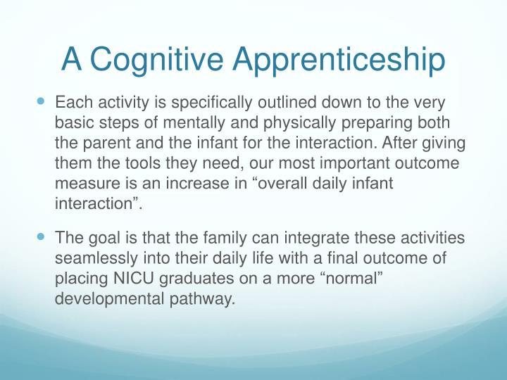 A Cognitive Apprenticeship