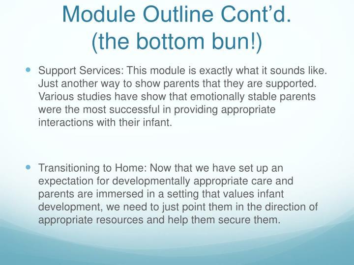Module Outline Cont'd.