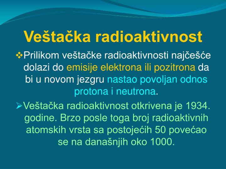 Veštačka radioaktivnost