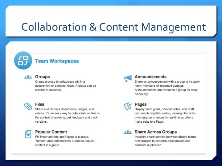 Collaboration & Content Management