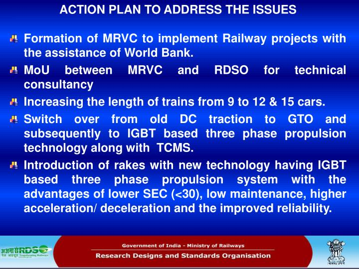 ACTION PLAN TO ADDRESS THE ISSUES