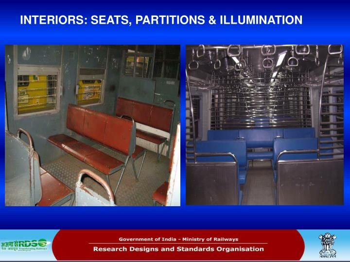 INTERIORS: SEATS, PARTITIONS & ILLUMINATION