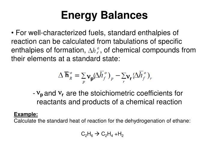 Energy Balances