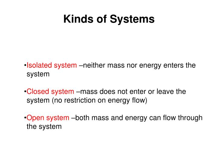 Kinds of Systems