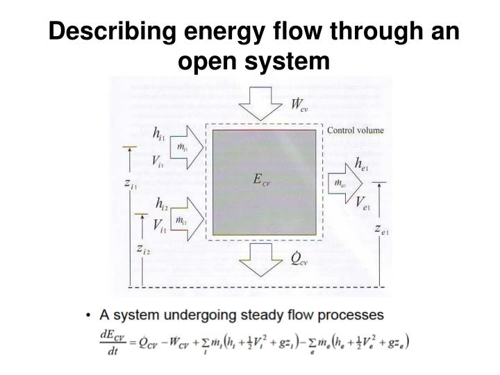 Describing energy flow through an open system