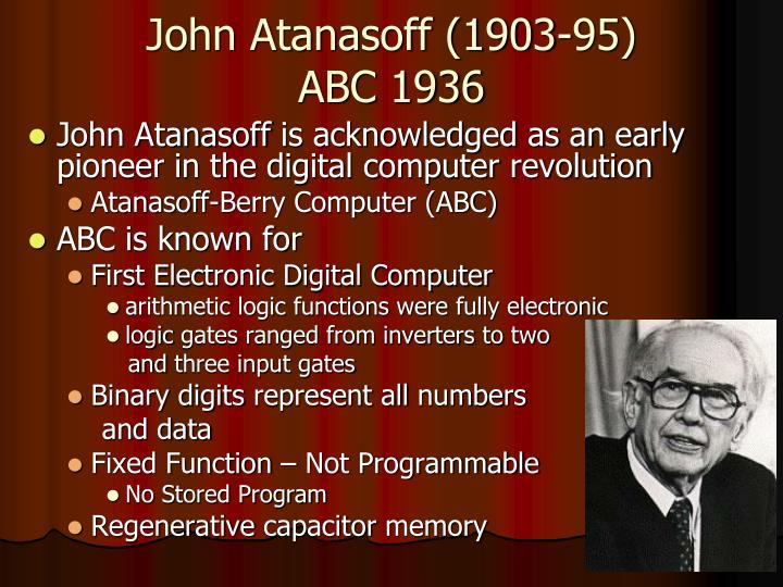 John Atanasoff (1903-95)