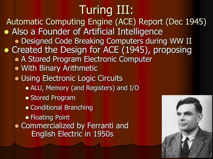 Turing III: