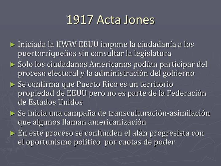 1917 Acta Jones