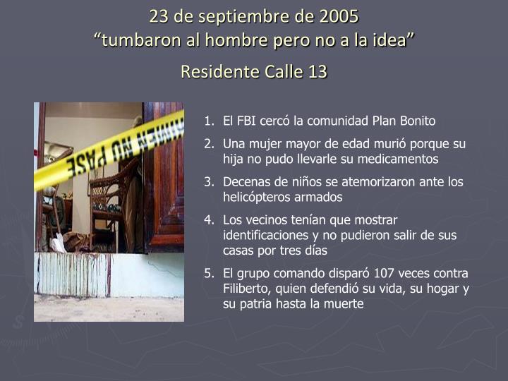 23 de septiembre de 2005