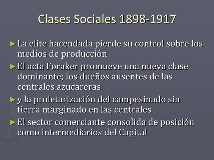 Clases Sociales 1898-1917