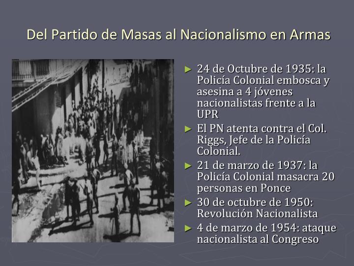 24 de Octubre de 1935: la Policía Colonial embosca y asesina a 4 jóvenes nacionalistas frente a la UPR