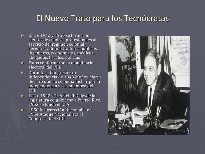 Entre 1942 y 1950 se formaron cientos de cuadros profesionales al servicio del régimen colonial: gerentes, administradores públicos, ingenieros, economistas, médicos, abogados, fiscales,
