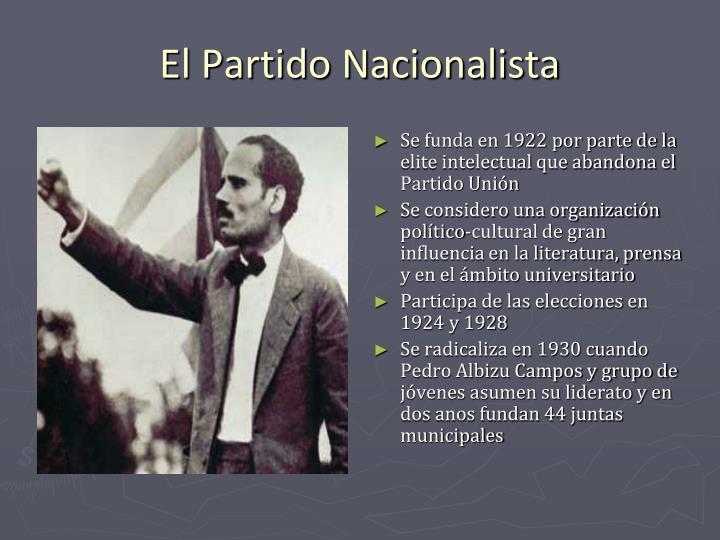 Se funda en 1922 por parte de la elite intelectual que abandona el Partido Unión