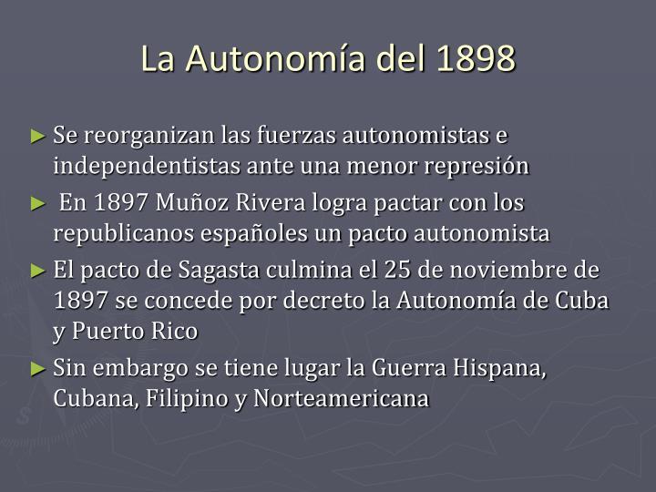 La Autonomía del 1898