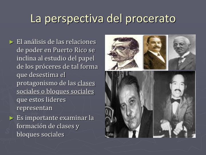El análisis de las relaciones de poder en Puerto Rico se inclina al estudio del papel de los próceres de tal forma que desestima el protagonismo de las