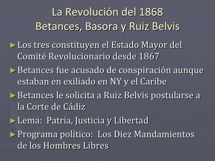 La Revolución del 1868