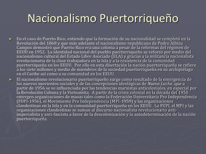 Nacionalismo Puertorriqueño